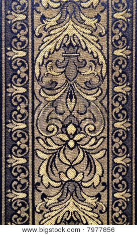 Pattern Of An Ornate Floral Tapestry