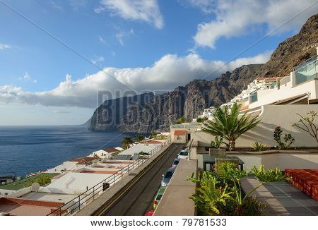 Gigantes Cliffs View From Uptown Los Gigantes, Tenerife Island.