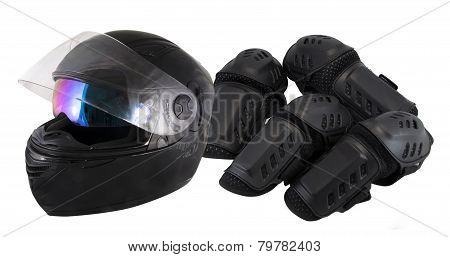 protector motorcycle protective gear knee pad riding Elbow Knee Pads and helmet
