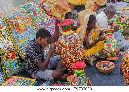 Painted Furnture, Indian Handicrafts Fair At Kolkata