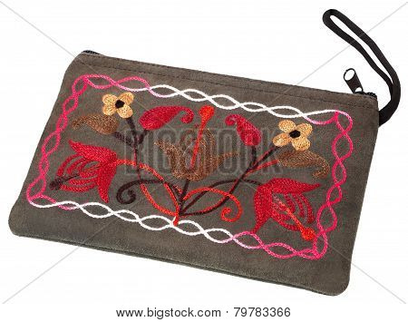 The Cosmetic Bag With Hand-made Embroidery