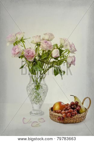 Fruit and Roses