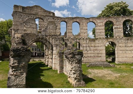 Ruins Of The Coliseum Of Bordeaux, France