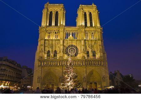 Notre Dame Church At Paris, France