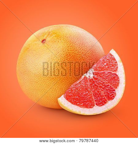 Grapefruit Citrus Fruit With Slice