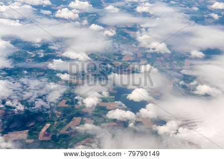 Aerial View Of Different Cloud Formations