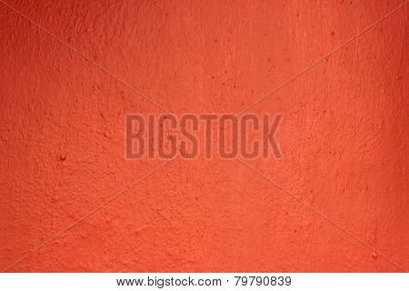 Freshly painted red wall texture
