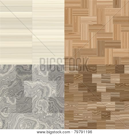 Four Wood Patterns