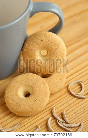 Round Cookies On A Table