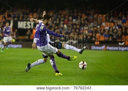VALENCIA, SPAIN - JANUARY 4: Unrecognized players during Spanish King Cup match between Valencia CF and RCD Espanyol at Mestalla Stadium on January 4, 2015 in Valencia, Spain