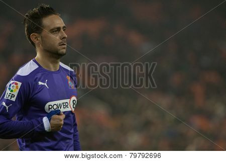 VALENCIA, SPAIN - JANUARY 4: Sergio Garcia during Spanish King Cup match between Valencia CF and RCD Espanyol at Mestalla Stadium on January 4, 2015 in Valencia, Spain