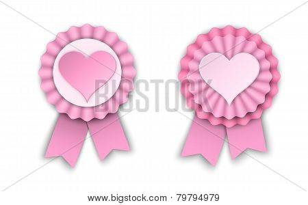 Two Valentine Rosettes