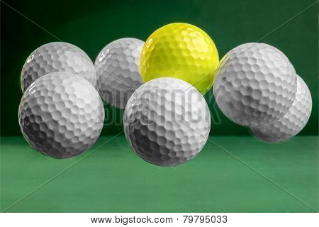 Suspended Golf Balls