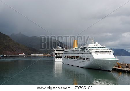 Cruise ship in Tenerife, Spain