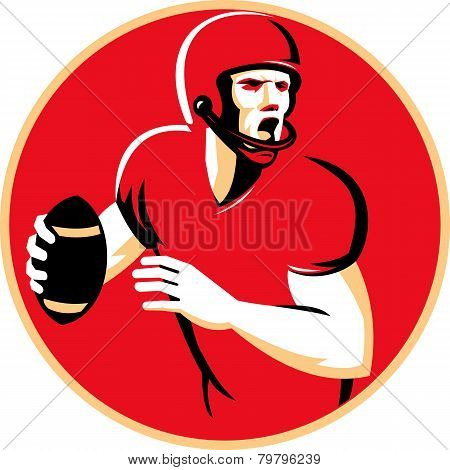 American Quarterback Football Player Passing Circle