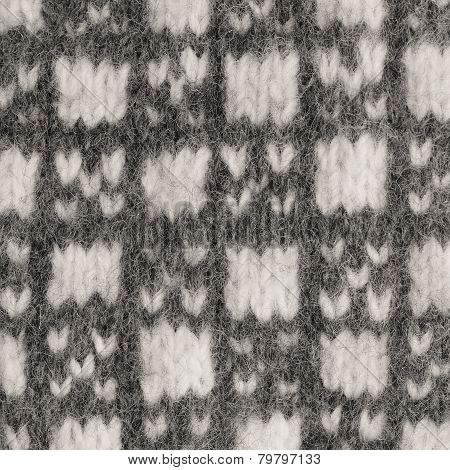 Gray mitten background grey white textured woolen mittens pattern knitted warm wool winter
