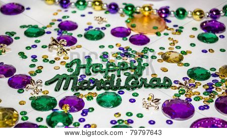 Happy Mardi Gras Background