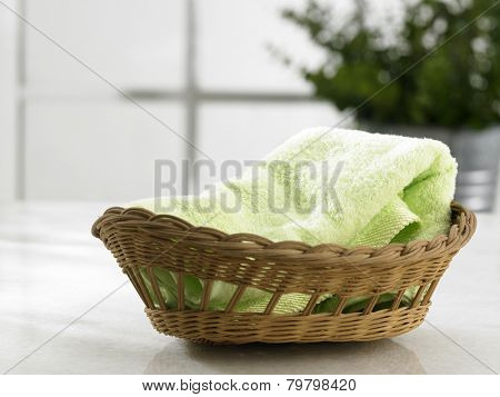 hand towel in the basket