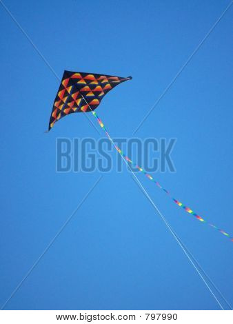 Kite on Blue