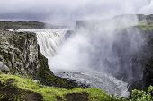 stock photo of enormous  - Dettifoss a waterfall with enormous volume in north Iceland - JPG