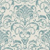 image of wallpaper  - Vector damask seamless pattern element - JPG