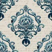 image of damask  - Vector damask seamless pattern element - JPG