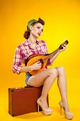 stock photo of pinup girl  - pin - JPG