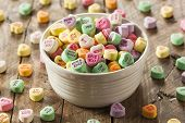 foto of conversation  - Colorful Candy Conversation Hearts for Valentine - JPG