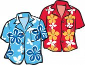 Pair of Hawaiian Aloha Shirts