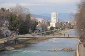 stock photo of sochi  - river and bridge in Sochi - JPG