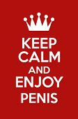 Постер, плакат: Keep Calm And Enjoy Penis
