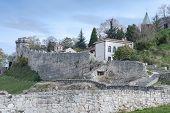 foto of serbia  - Old Medieval Kalemegdan Fortress Belgrade Serbia looked from lower city - JPG