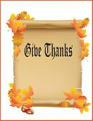 stock photo of give thanks  - Thanksgiving Vector  - JPG