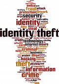 stock photo of theft  - Identity Theft Word Cloud - JPG
