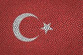 picture of stingray  - Turkey Flag painted on stingray skin texture - JPG