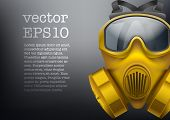 picture of army  - Background of safe chemical antiviral gas mask respirator - JPG