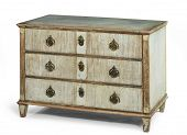 pic of chest  - old antique wooden painted chest of drawers European - JPG