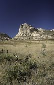 image of western nebraska  - Scotts Bluff National Monument is located in western Nebraska - JPG