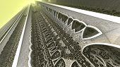 picture of mandelbrot  - By computer generated surreal 3d mandelbrot fractal - JPG