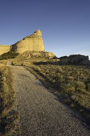 pic of western nebraska  - Scotts Bluff National Monument is located in western Nebraska - JPG