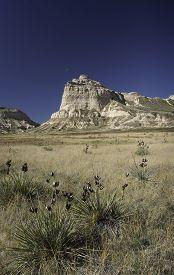 stock photo of western nebraska  - Scotts Bluff National Monument is located in western Nebraska - JPG