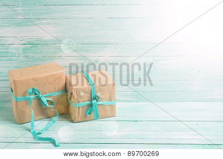 Festive Gift Boxes With Ribbon