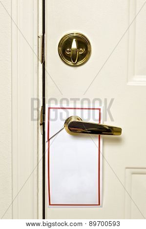 Blank Door Hanger On Door Handle