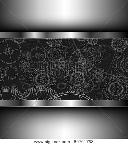 Background with technology gears, vector illustration.