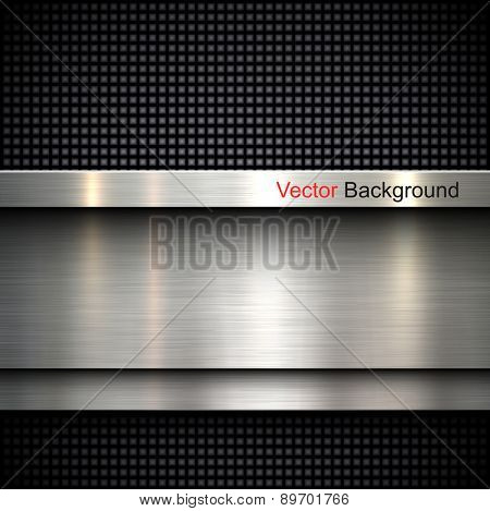 Abstract metal template background design, vector illustration