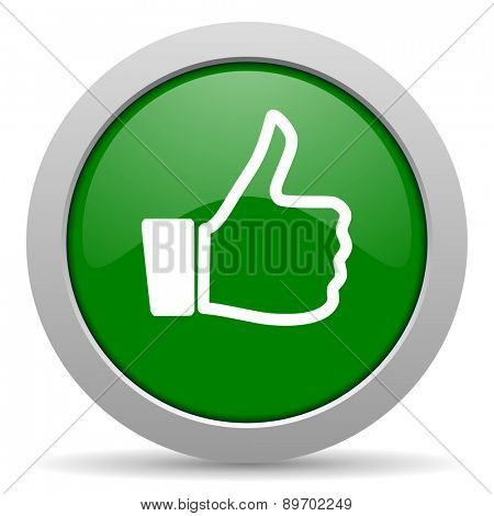 like green glossy web icon