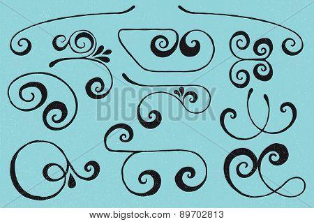 Vector swirls set
