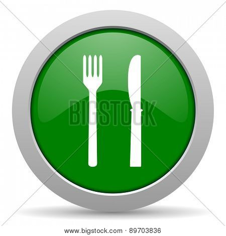 eat green glossy web icon
