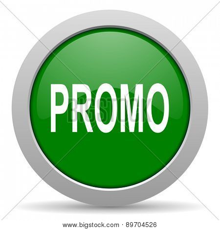 promo green glossy web icon