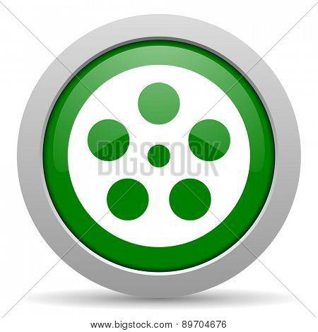 film green glossy web icon